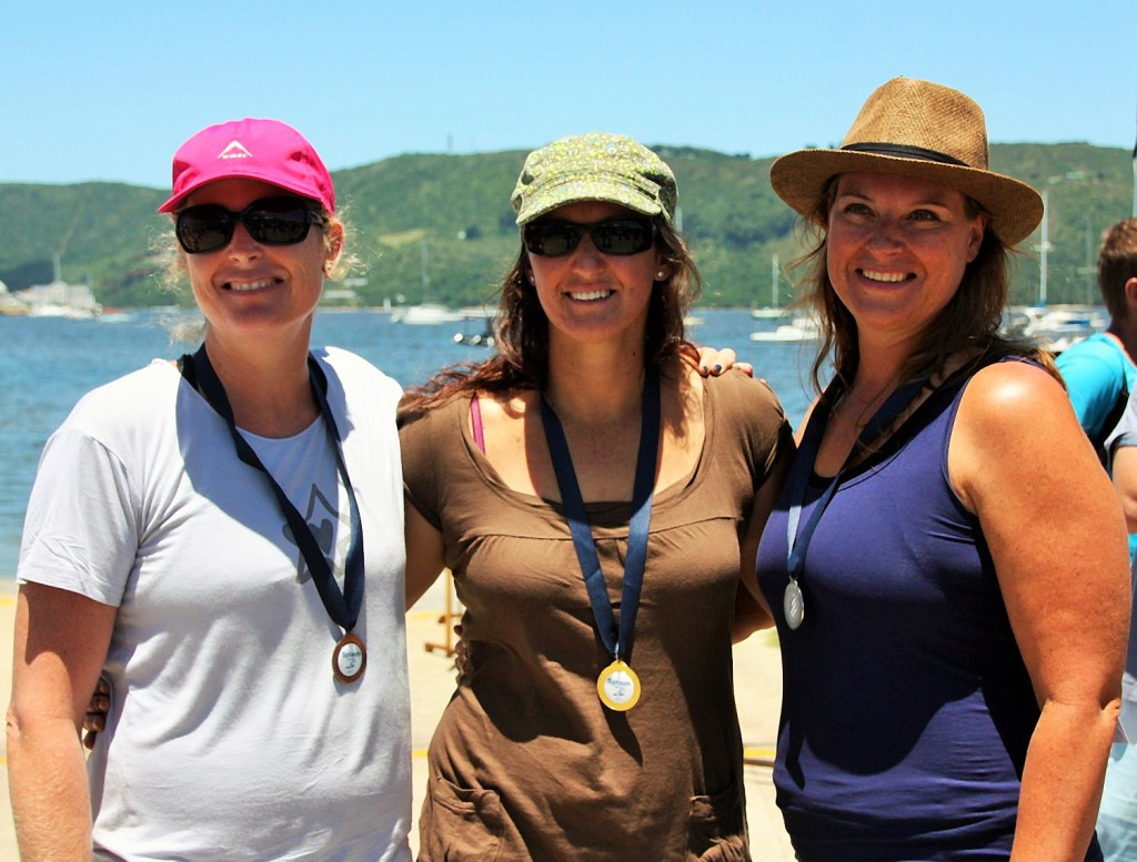 Ladies 40+ 1st Tania Osborne L 2nd Carol Hampshire R 3rd Janet Michaelides